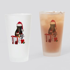 Christmas Cane Corso Drinking Glass