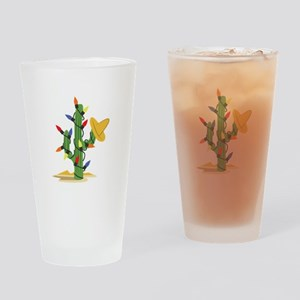 Christmas Cactus Drinking Glass