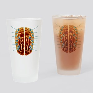 Electroencephalography, artwork Drinking Glass
