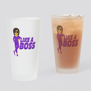 Emoji - Like A Boss Drinking Glass