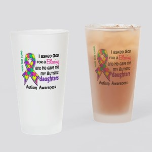 Blessing 4 Autism Drinking Glass