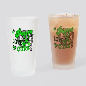 Lyme Disease PeaceLoveCure2 Drinking Glass