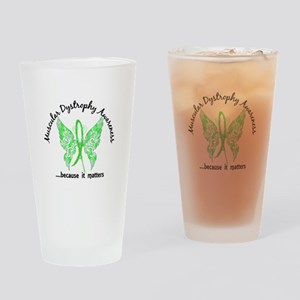 Muscular Dystrophy Butterfly 6.1 Drinking Glass