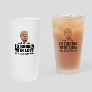 To Russia With Love Drinking Glass