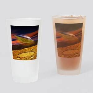 UFO and crop circles Drinking Glass