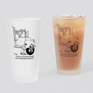 5441_truck_cartoon Drinking Glass