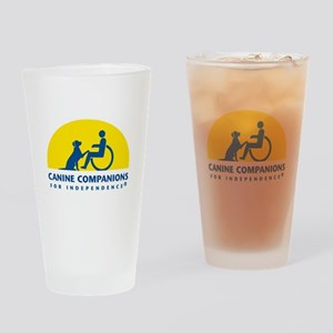 Color Canine Companions Logo Drinking Glass