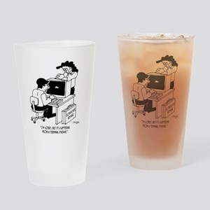 5812_computer_cartoon Drinking Glass
