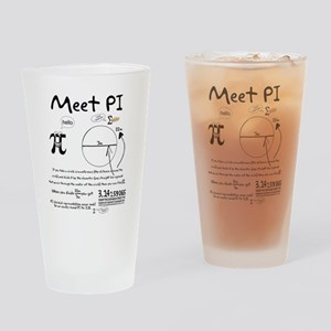 Meet Pi Drinking Glass