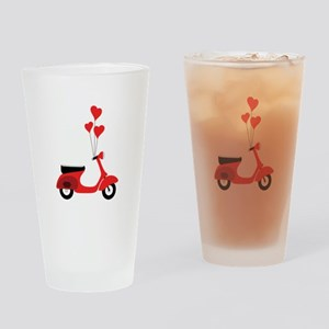 Italian Scooter Drinking Glass