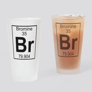 Element 35 - Br (bromine) - Full Drinking Glass
