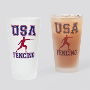 USA Fencing Drinking Glass