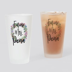 Future Mrs. Pena Engaged Bridal Drinking Glass