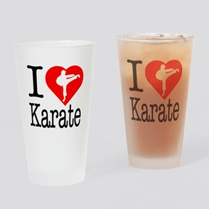 I Love Karate Drinking Glass