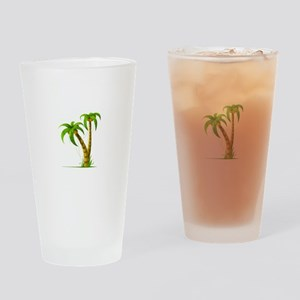 Palm Tree Plant Drinking Glass