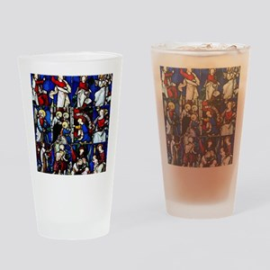 Religious stained glass window coll Drinking Glass