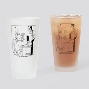 7150_computer_cartoon Drinking Glass