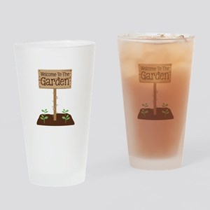 Welcome to the Garden Drinking Glass