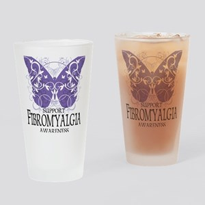 Fibromyalgia-Butterfly Drinking Glass