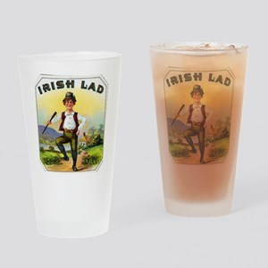 Irish Lad Cigar Label Drinking Glass