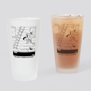 6309_carpenter_cartoon Drinking Glass