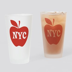 New York CIty Big Red Apple Drinking Glass