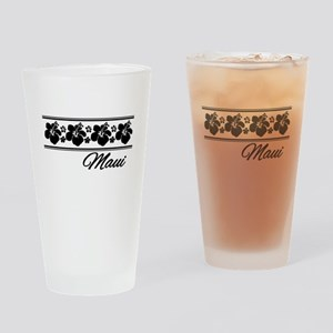 B & W Maui Hibiscus Drinking Glass