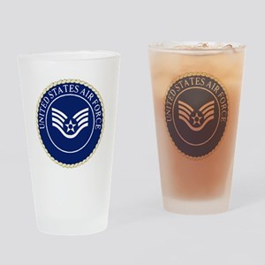 USAFStaffSergeantCapCrest Drinking Glass