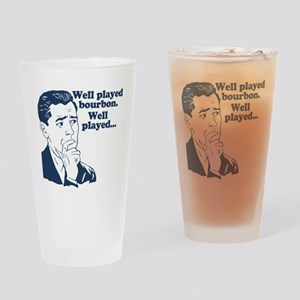 Well Played Bourbon Drinking Glass