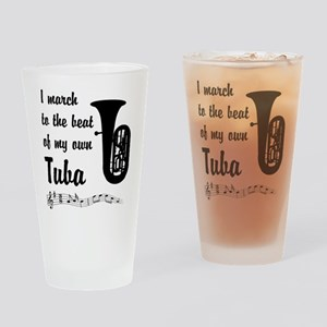 March to the Beat: Tuba Drinking Glass
