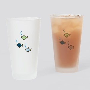 Fish Trio Drinking Glass