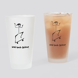 Weird Skateboard Pint Glass