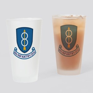 Army-8th-Infantry-Div-13-Bonnie Drinking Glass