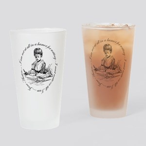Writing Pen Ink Drinking Glass