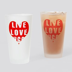 Live Love Rugby Designs Drinking Glass