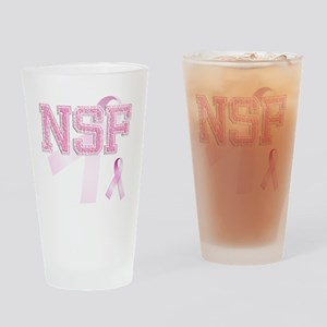 NSF initials, Pink Ribbon, Drinking Glass