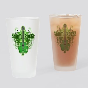 sham_ROCKS_filligree_and_text_both Drinking Glass