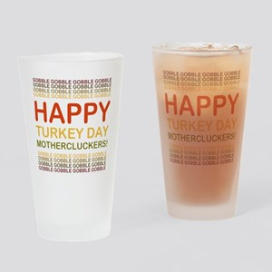 2000x2000happyturkeydaymotherclucke Drinking Glass