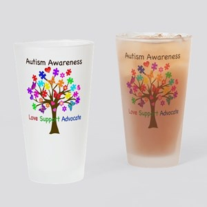 Autism Awareness Tree Drinking Glass