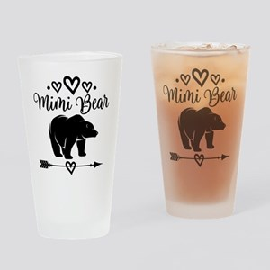 Mimi Bear Grandma Gift Drinking Glass