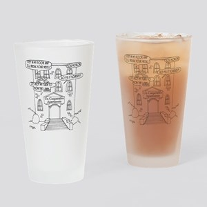 6178_apartment_cartoon Drinking Glass