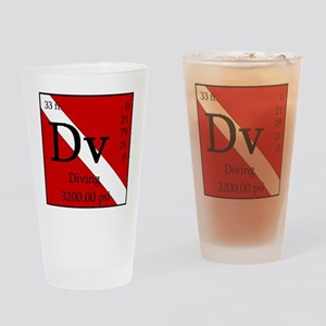 PeriodicDiver-Back Drinking Glass