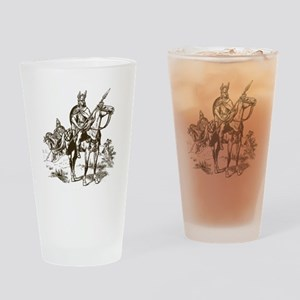 Vintage Viking Drinking Glass