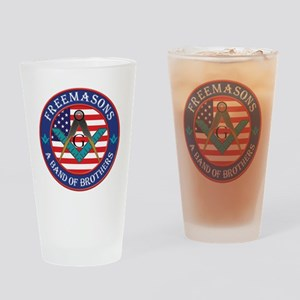 Band Of Brother Masons Drinking Glass