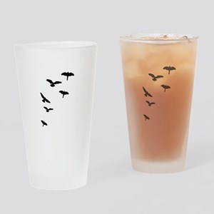 Flying Birds, the free-flying birds Drinking Glass