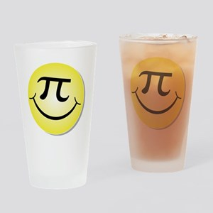 Smiley Pi Day Face Drinking Glass