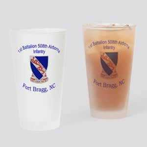 1st Bn 508th ABN Drinking Glass