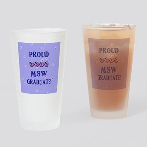 2-2010 msw graduate background Drinking Glass