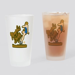Memphis Belle Blue Nose Art Drinking Glass