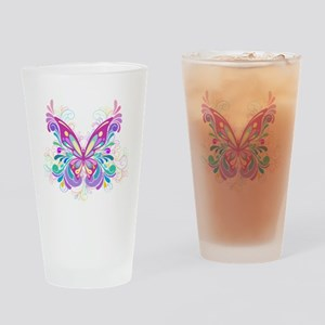 Decorative Butterfly Drinking Glass
